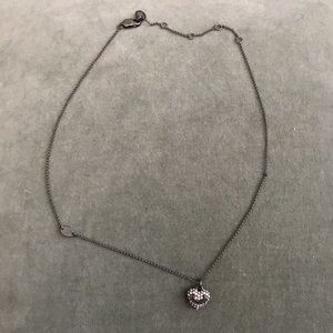 Juicy Couture Iridescent Crystal Heart Necklace